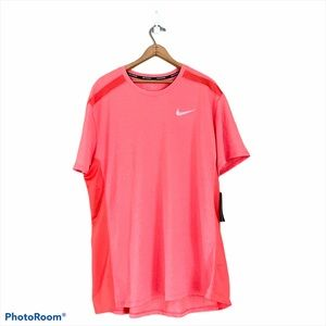 Nike Men's Vented Running T-Shirt Orange Sz XXL